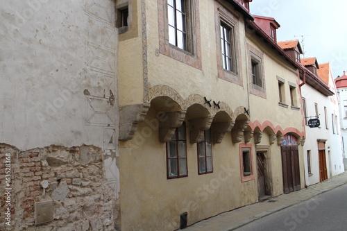 Houses on Dačická street in Slavonice, Czech republic Poster