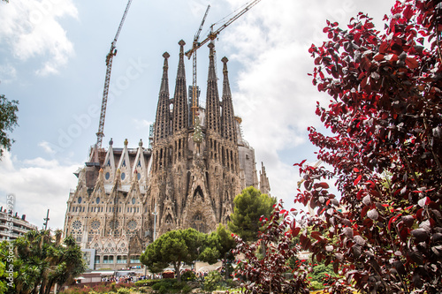 The Basílica i Temple Expiatori de la Sagrada Família is a large Roman Catholic Canvas Print