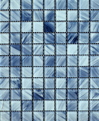 Panel Szklany Mozaika Texture of blue glossy mosaic tile