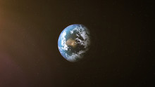 Realistic Earth At Night And S...