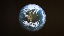 Realistic Earth Around North America