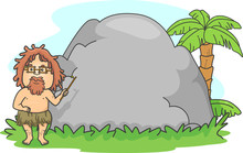 Man Caveman Teacher Stone Boar...
