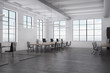 White open space office interior