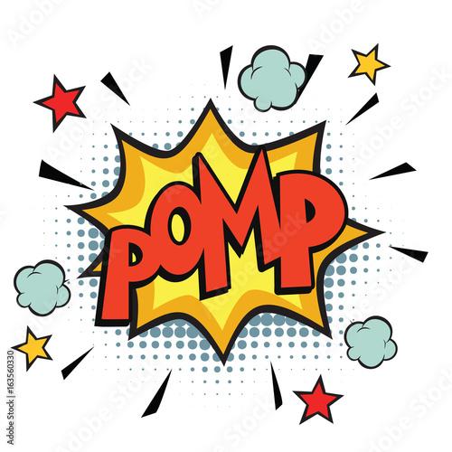 Acrylic Prints Pop Art pomp comic word