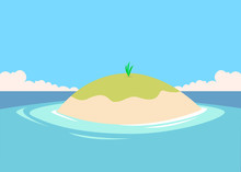 Small Tiny Island In The Middl...