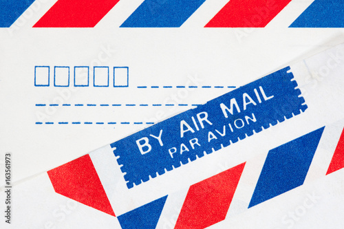 Canvas Print closeup text airmail