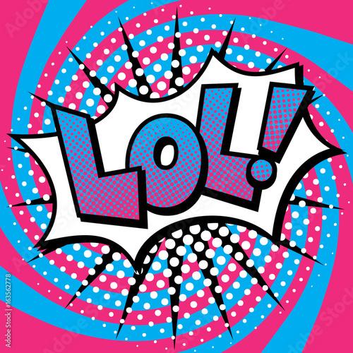Zdjęcie XXL Pop Art LOL! Projektowanie tekstu