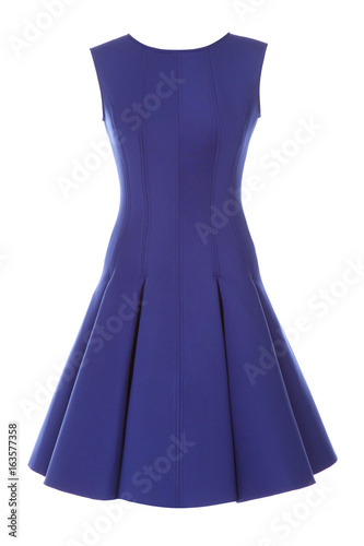 Little blue dress with rhinestones isolated on white Tapéta, Fotótapéta