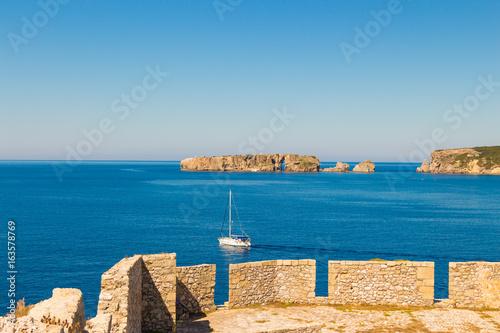 Poster Cote Inside the Niokastro (Pylos Castle) fortress, Peloponnese, Greece