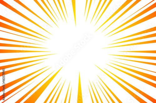 Fotografia  Sun Rays or Explosion Boom for Comic Books Radial Background Vector