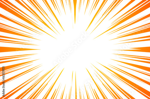 Sun Rays or Explosion Boom for Comic Books Radial Background Vector Fototapet