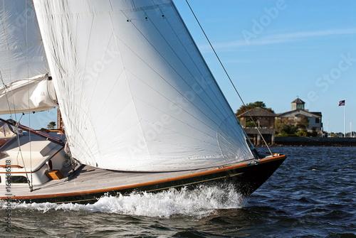 Poster Zeilen Adventure sailing in Newport, Rhode Island. The sailing capital of the world.