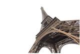 Fototapeta Fototapety z wieżą Eiffla - Eiffel tower isolated on white background in Paris, picture for the ideas of designers