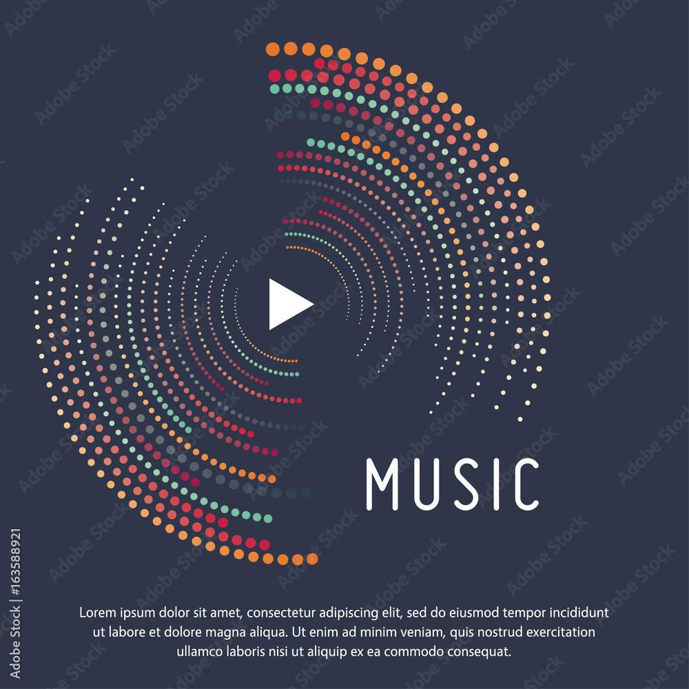 Szablon wektor, impreza muzyczna, festiwal muzyczny, dźwięk muzyki, plakat muzyczny, nowoczesny design <span>plik: #163588921   autor: detakstudio</span>