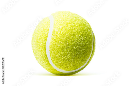 Fotografie, Obraz Tennis ball isolated in white background