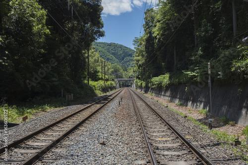 Papiers peints Retro Train Tracks