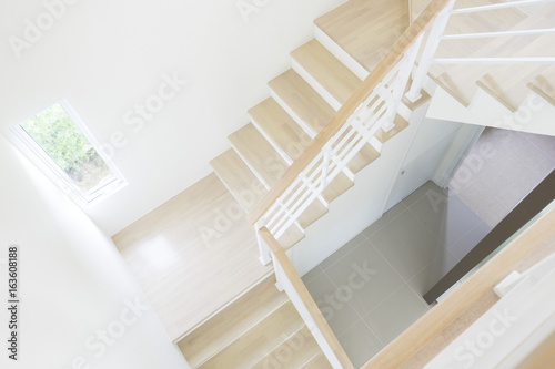 Foto op Plexiglas Trappen starcase with risers in a contemporary architect designed home