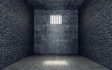 Prison Cell With Light Shining...