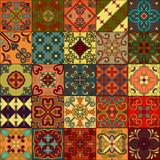 Fototapeta Kuchnia - Seamless pattern with portuguese tiles in talavera style. Azulejo, moroccan, mexican ornaments.