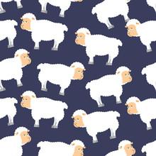 Sheep Pattern. Ewe Ornament. F...
