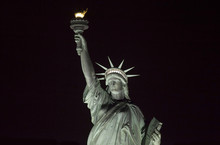 Statue Of Liberty At Night.