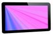 canvas print picture - Tablet - PC mit Strahlenhintergrund