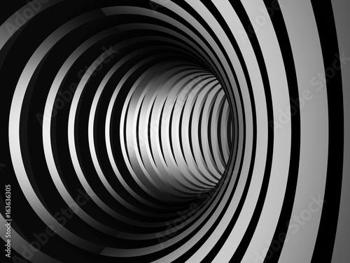 Fototapety, obrazy: Abstract dark stripe silver metal background