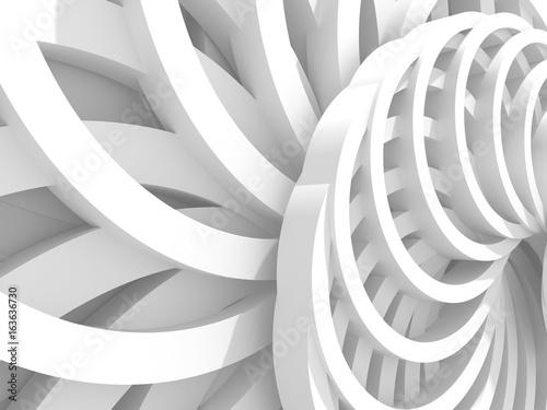 Streszczenie białe okrągłe koła wzór tła