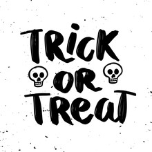 Trick Or Treat. Hand Drawn Let...
