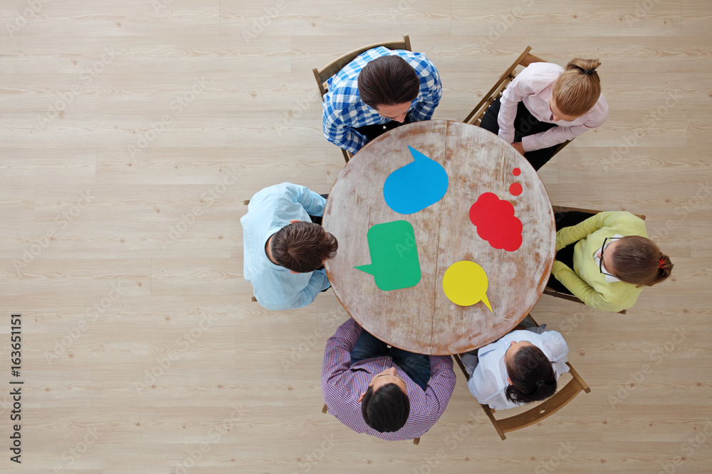 Fototapeta Business team and dialog boxes