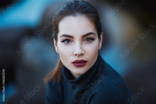 Canvas Print Beautiful young woman