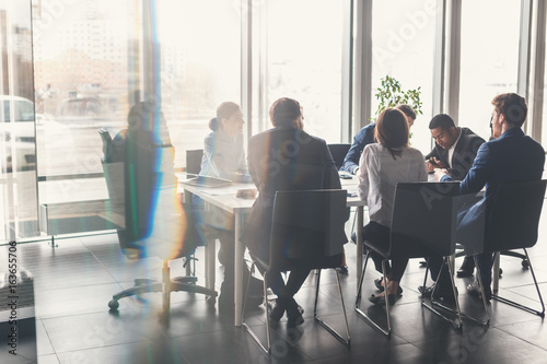 Cuadros en Lienzo Business People Meeting Communication Discussion Working Office Concept