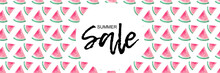 Summer Sale - Typographie Auf Stylishem Melonen - Pattern- Hintergrund - Banner