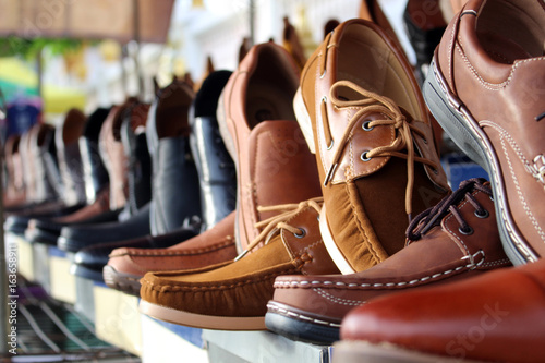 shoes leather background