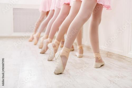 Fotografie, Obraz  Ballet background, young ballerinas training