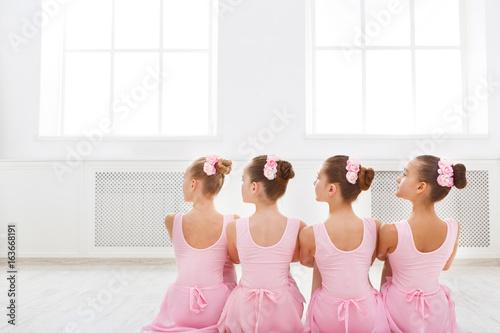 Slika na platnu Little ballerinas in ballet studio