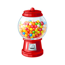 Transparent Round Glass Candy ...