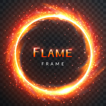Realistic Round Light Fire Fla...