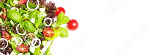 Bunter, gemischter Salat Canvas Print
