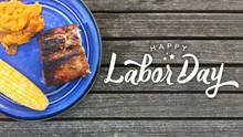Happy Labor Day Typography Ove...