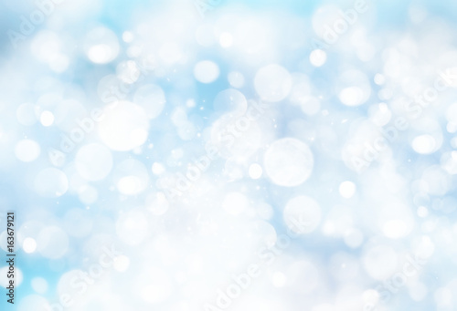 Fototapeta Snowy winter blurred background. obraz na płótnie