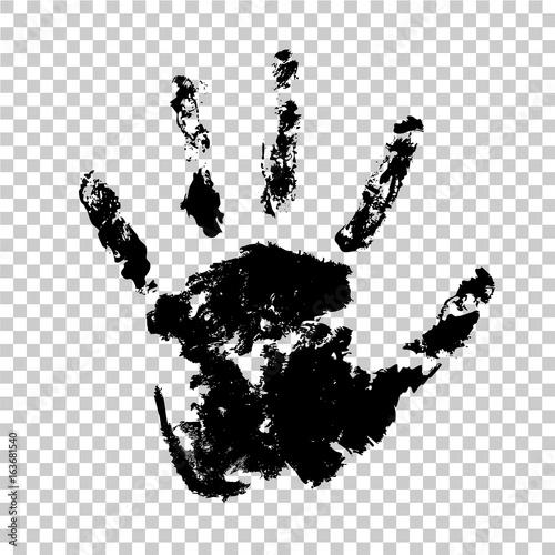 Vászonkép Handprint hand palm