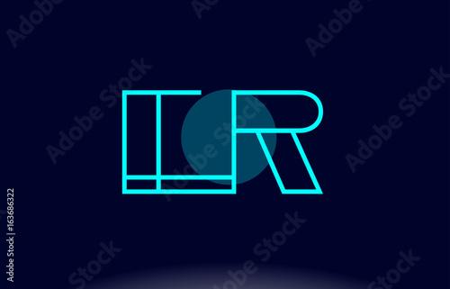 Er E R Blue Line Circle Alphabet Letter Logo Icon Template Vector