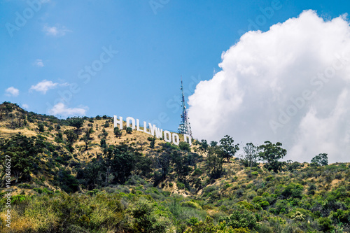 Hollywood inscription on the hills in Los Angeles Poster