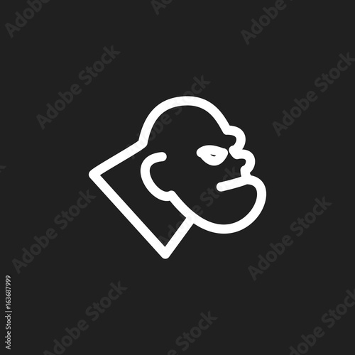Vector Illustration Of Zoo Symbol On Monster Outline Premium