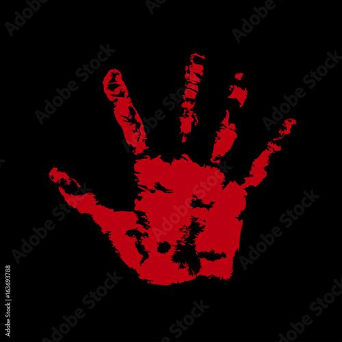 Fototapety, obrazy: palm print red blood