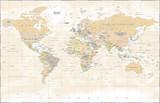 Vintage World Map - Vector Illustration - 163697783