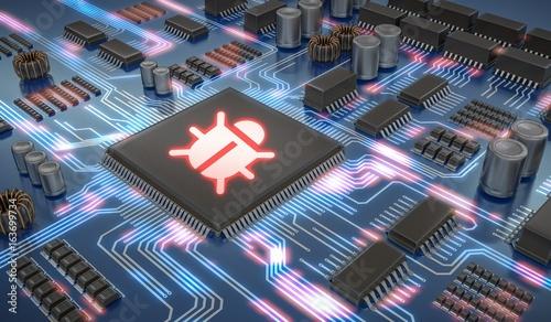 Fotografía  Internet security and anti virus protection concept