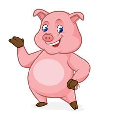 Pig cartoon presenting