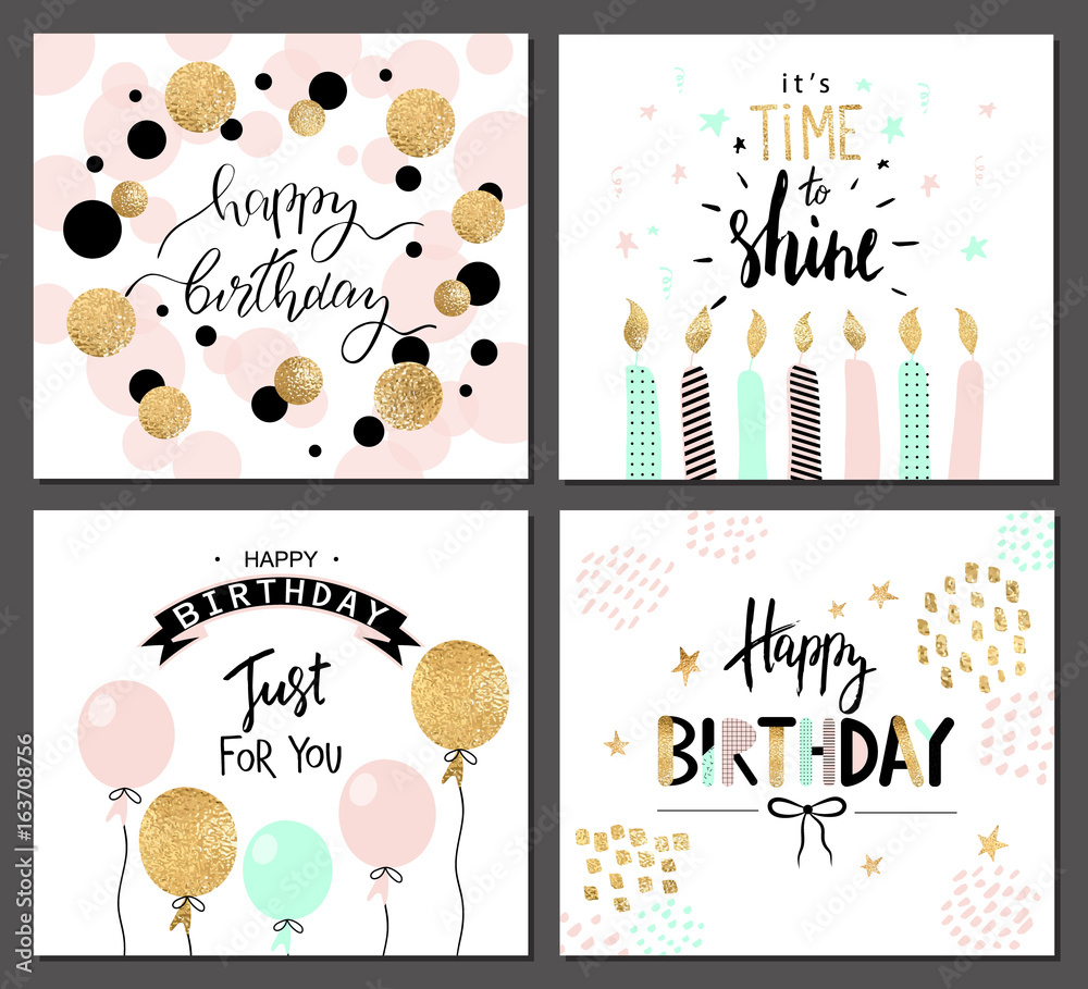 Fotografia Happy Birthday Greeting Cards And Party